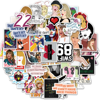 50 pcs/Pack SingerTaylor Swift Stickers for Car Phone Travel Luggage Trolley Laptop Computer Sticker Toy image