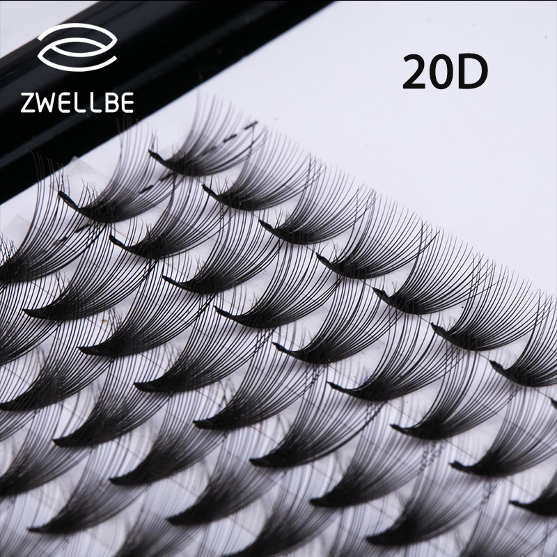 12lines Premade Russian Volume Fans 3D/4D/5D/6D/7D/8D/9D/10D/20D Eyelashes Short Stem Lash Pre made Eyelash Extensions Supplies