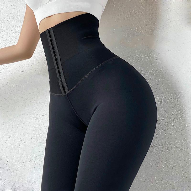 CHRLEISURE yeni spor tayt yüksek bel korse egzersiz sıkı pantolon streç pantolon kalça yüksek Push Up tayt