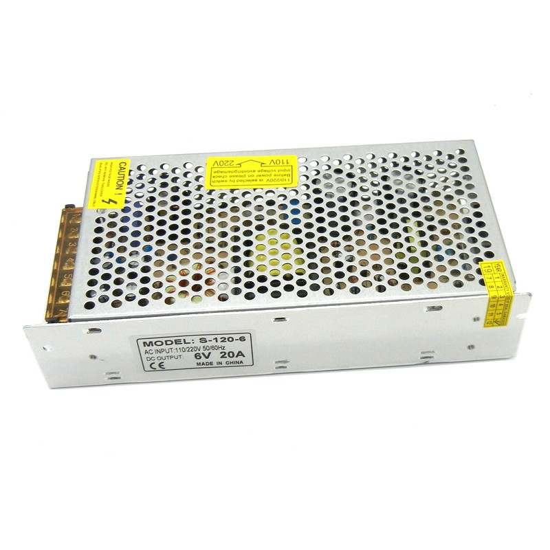 Regulated 6V Switching Power Supply 20A 120W 30A 180W Driver 110V 220V AC to DC  Source Transformer SMPS for monitoring system-1
