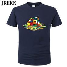 2020 Summer Men T-Shirts The Big Bang Theory Printed Stylish Design Melting Rubik's cube T Shirts Cotton Unisex Tops Tees C06