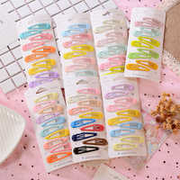 10PC Cartoon Type Metal Candy Color Girls Hairpins Hair Clip Kids Headwear Children Accessories Baby New Lovely BB Clips
