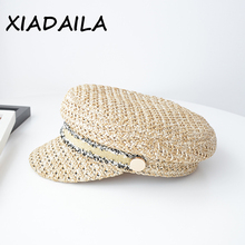 2020 New High Quality Design Military Caps Wisk Material Women Straw Hat With Popular Breathable Visor Cap Sun hat