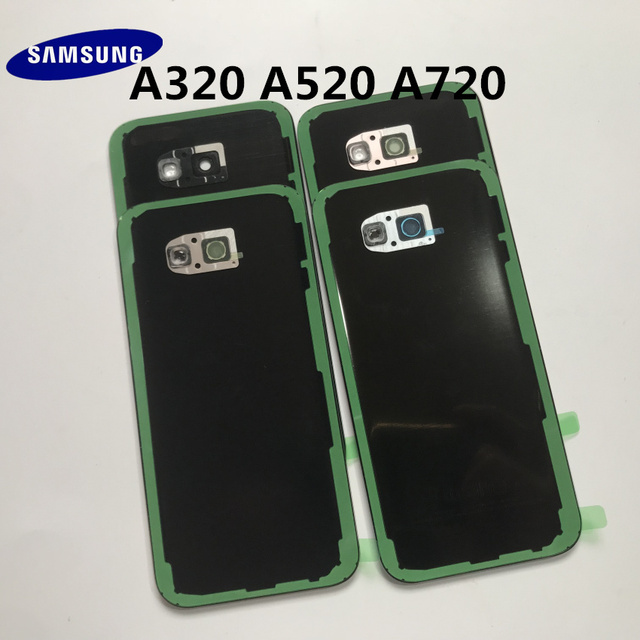 Original Back Glass For SAMSUNG Galaxy A3/A5/A7 2017 A320 A520 A720 Back Battery Glass Cover Rear Door Housing Case Replacement 6