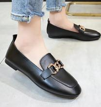 2019 spring and autumn new square-headed women flat shoes, fashionable, light, elegant work shoes for loafers