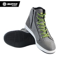 Scoyco Boots Motorcycle Racing Shoes Sport Casual Boots Motorbike Man Comfort Botas Motocross Cycling Stivali Footwear
