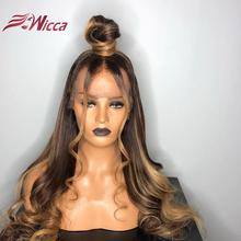Wicca 13X6Lace Front Human Hair Wigs With Baby Hair Wavy Pre