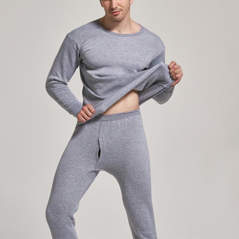 Men's winter plus velvet thermal underwear suit sports windproof thickened thermal underwear ski underwear suit jacket + pants