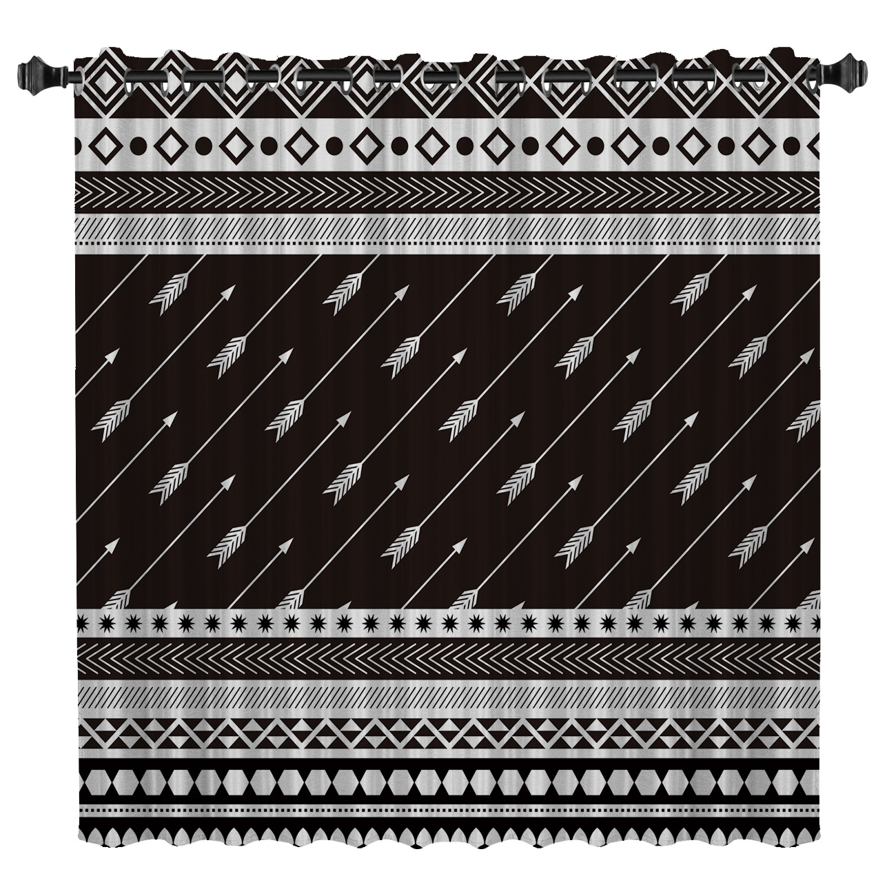 Aztec Arrowhead Room Curtains Large Window Curtain Rod Bathroom Bedroom Outdoor Drapes Fabric Print Kids Window Treatment Ideas