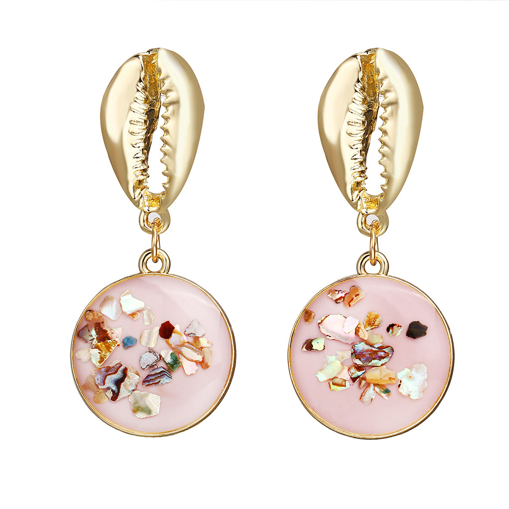 Fashion Women Bohemia Circle Pearl Drop Dangle Earrings Statement Jewelry Gifts√