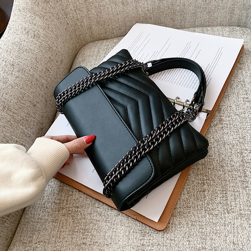 Petit sac à bandoulière en cuir pour femmes 2021 sac à bandoulière Simple femme marque tendance Lux noir sacs à main et sacs à main belle
