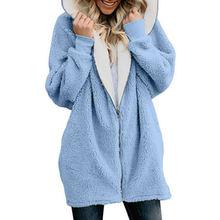 Женская зимняя толстовка с капюшоном длинным рукавом