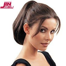 JINKAILI Synthetic Short Straight Claw on Ponytail Hair Extension Fake Hairpiece For White Black Women Black Brown Tail(China)
