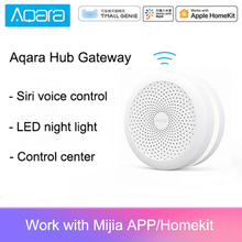 Original Xiaomi Mijia Aqara Hub Gateway with Led night light Smart work with For Apple Homekit International Edition Gateway xiaomi aqara smart home kits gateway hub door window sensor human body wireless switch humidity water sensor for apple homekit