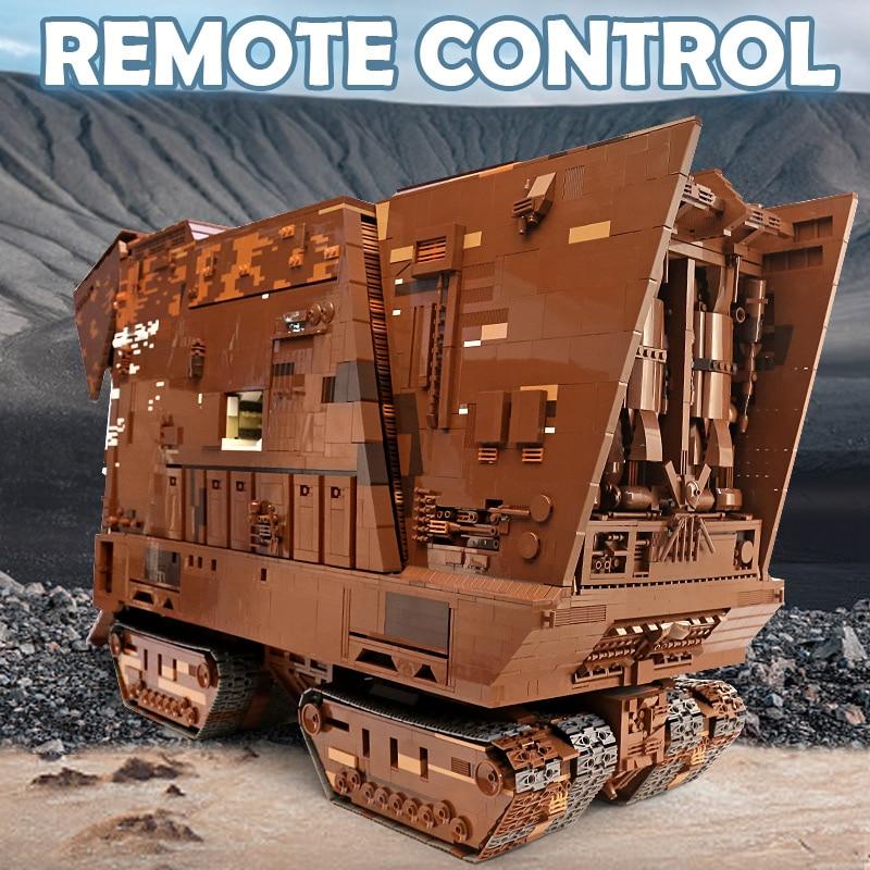 MOULD KING WX21009 Compatible With MOC-13289 Cavegod UCS Sandcrawler Assembly Kits Model Building Blocks