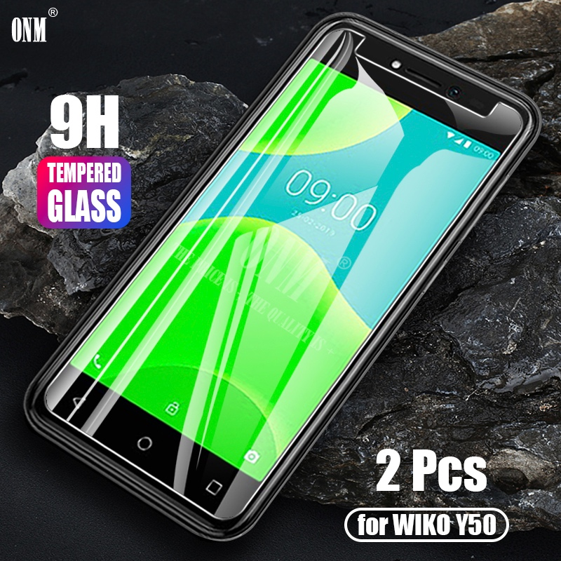 Wiko Y50 2Pcs Tempered Glass For Wiko Y50 Glass Screen Protector 2.5D 9H Premium Tempered Glass Wiko Y50 Protective Film