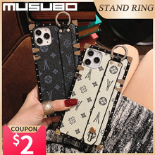 Musubo Wrist Strap Phone Cases For Samsung Galaxy S21 Ultra S20 Plus S10 Retro Cover Luxury Galaxi A71 A70 A51 A50 Funda Girls