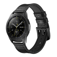 22mm Strap for samsung galaxy watch 46mm Gear S3 Frontier Huawei Watch GT 2 band silicone&leather huami amazfit GTR 47mm bracelt watch band for 22mm samsung gear s3 real leather with silicone watch strap for huawei watch 2pro wrist belt for huami amazfit 1