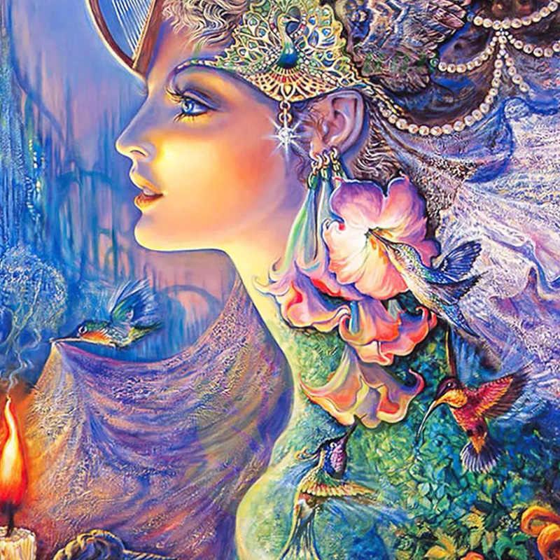 נסיכת פנטזיה פיות הגעה חדשה DIY קריסטל מלא תרגיל כיכר 5D יהלומי ציור 3d צלב סטיץ ערכת פסיפס עגול ריינסטון