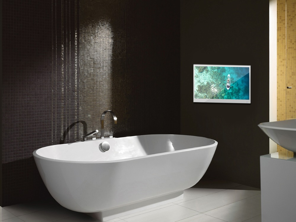 "Hef56b6599daa48108e07fa99fed3dba5N Souria 22"" inch Magic Android 7.1 Mirror LED TV IP66 Waterproof Rated Bathroom Salon In Wall Mounted Flat Screen (ATSC or DVB)"