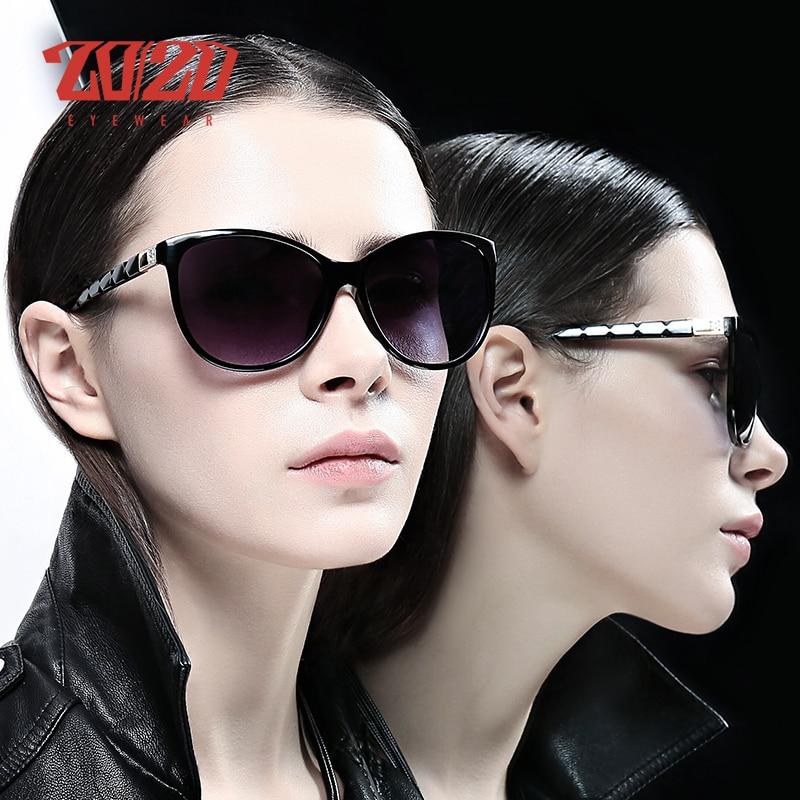 20/20 Brand Design Women Cat Eye Sunglasses Female Retro Style Polarized Glasses Shades UV400 Oculos De Sol Feminino PL337