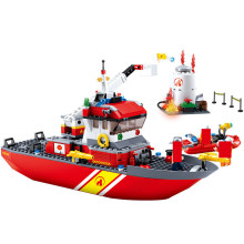 429Pcs City Fire Police Sea Rescue Boat Ship Model Building Blocks Sets Technic Brinquedos Bricks Educational Toys for Children ninjagos dragon model building blocks sets ball creator figures brinquedos juguetes city bricks technic educational kids toys