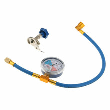 Practical Pressure Resistance Reliable Adjustable Universal Car A/C Hose Gauge Durable Refrigerants Recharge Air Conditioning(China)