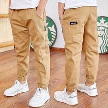 2021 Kid Sports Pants Big Boy Pants Spring Teenage Spring Toddler Casual Kids Trousers For Boys Clothes Elastic Waist Long Pants