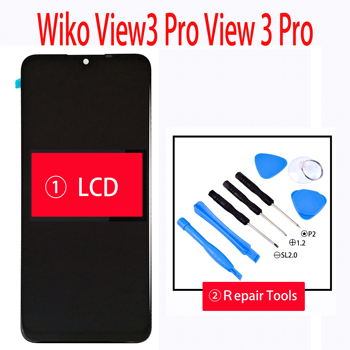 Original 6.3 Inch For Wiko View 3 Pro View 3 Pro LCD Display With Touch Screen Digitizer Glass