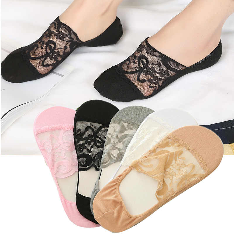 Women Transparent Lace Socks