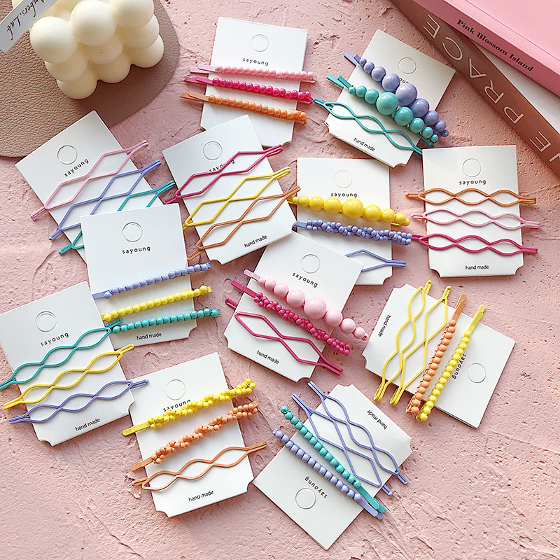 Ins Hairpin Korean Candy Banger Headdress Girl Simple Hairpin Side Clip
