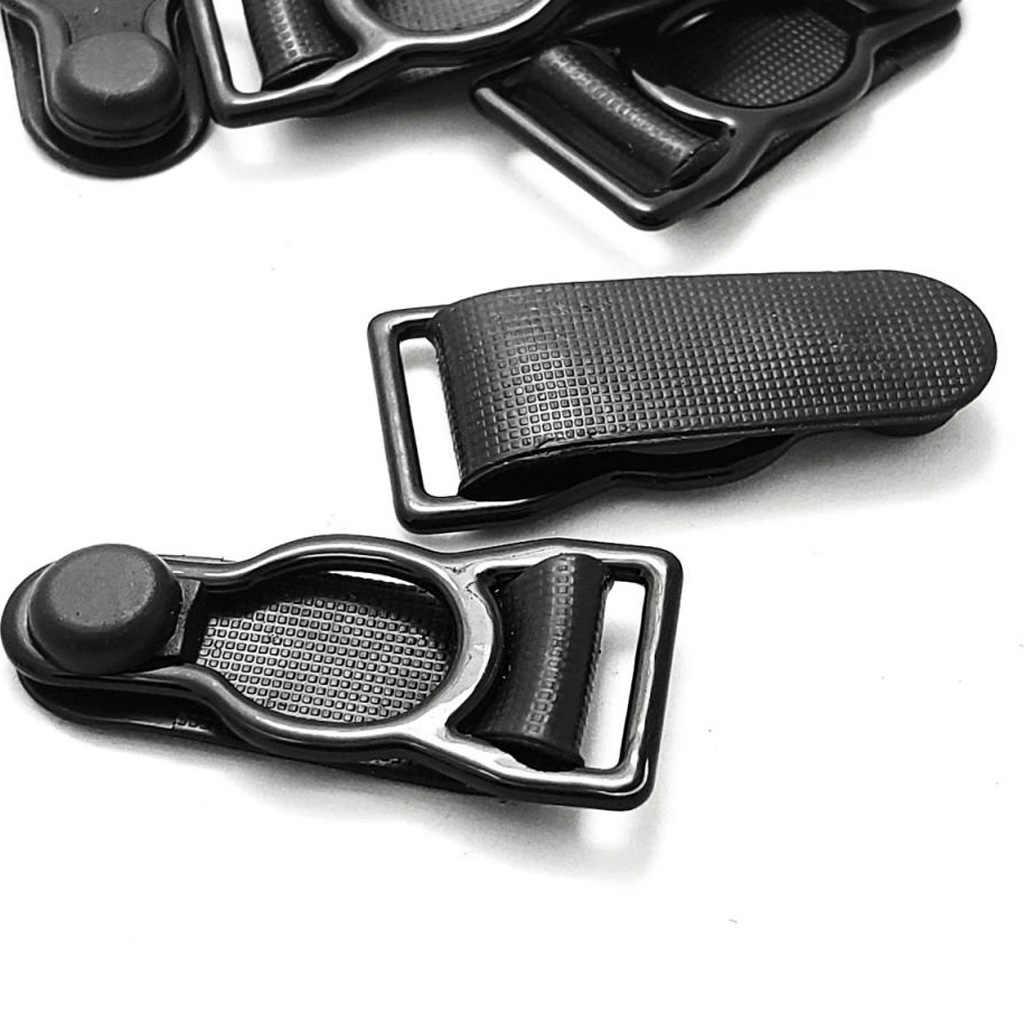 10 個脚ガーター腿の高ストッキングサスペンダーベルト金属クリップベルトクリップフックサスペンダー靴下終了 12 ミリメートル