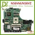 KEFU N56VM для ASUS N56VM N56V N56VV N56VZ N56VB N56 материнская плата GT650 2 Гб Видео память поддержка I7 оригинальный тест 100% работа