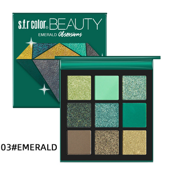 Makeup Metal matte Eyeshadow Pallete makeup brushes 9 Color Shimmer Pigmented Eye Shadow Palette Make up Palette maquillage 3