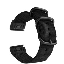 20mm/22mm/26mm Quick Release Woven Nylon Sport smart watch band for Garmin Fenix 5X Plus/Fenix 3/3 HR 5 5S Plus