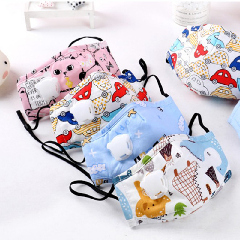 Kids PM2.5 Mask Anti-Dust Reusable Face Mouth Mask Protection With Valve Filter For Childrens