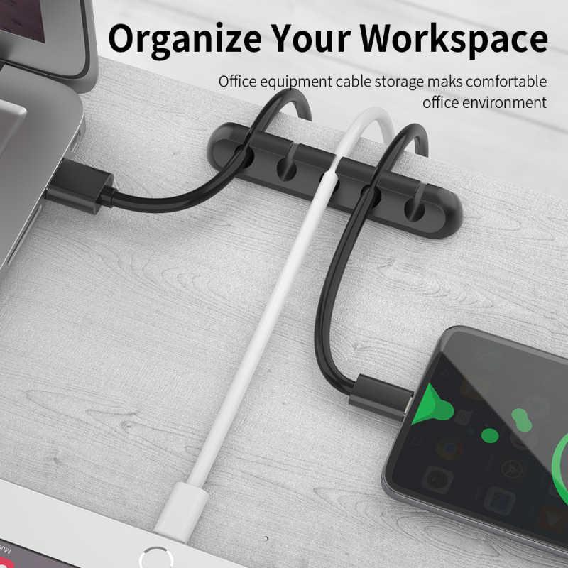สายคลิป Tidy Organizer สายโทรศัพท์ USB Charger ผู้ถือตะกั่วยึด ugreen Protector สาย Organizer สาย