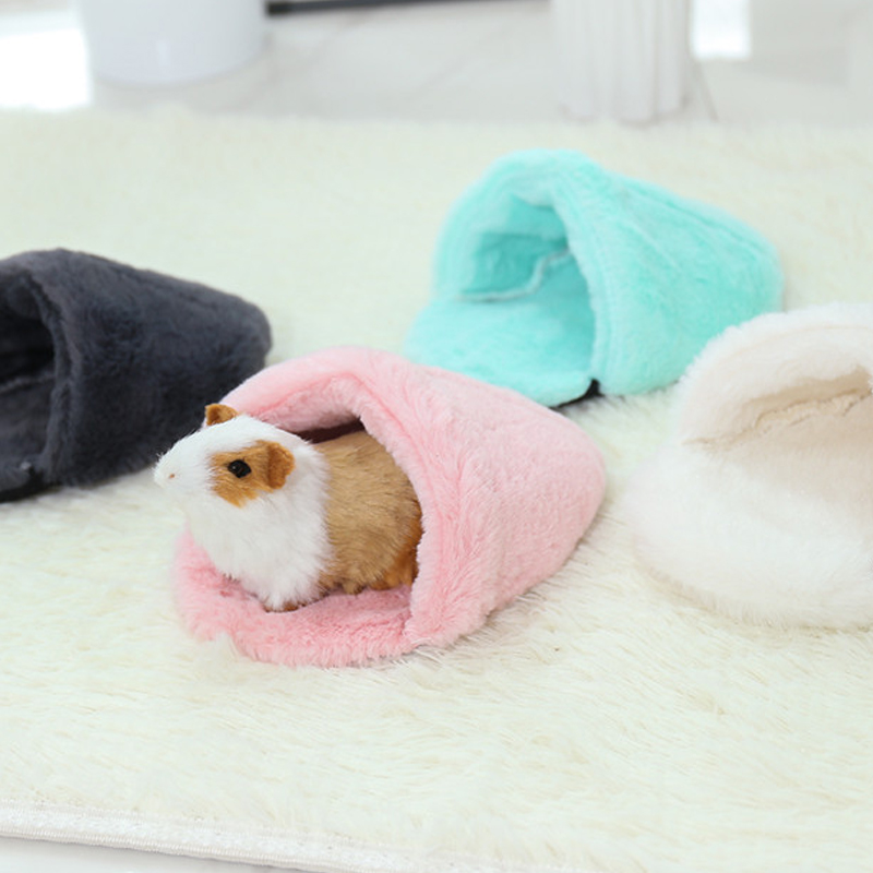 Hamster House Bed, Soft Warm Guinea Pig Bed Pet Small Animal Hamster Sleeping Bed Mat Chinchilla Rabbit Nest Pet Supplies