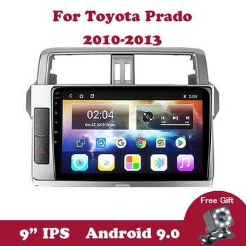Android 9.0  Car Video Tape Recorder GPS Navigation For Toyota Land Cruiser Prado 150 2010 2011 2012 2013 Car Multimedia Radio