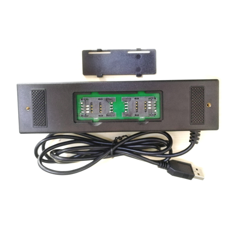 YL160 4-en-1 lecteur de cartes multiples lecteurs de cartes de crédit à bande magnétique EMV IC puce RFID PSAM lecteur écrivain accessoires de cartes mémoire - 5