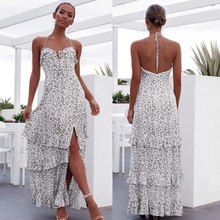 Women Summer Dresses Sexy Sling Dress Beach Dresses Long Dresses Women's Boho Dresses(China)