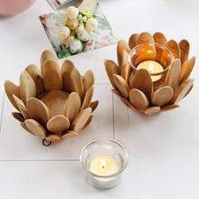 Flower Potted Design Candle Holders Wooden Candlestick European Iron Art Candlestick Christmas Wedding Party Birthday Decoration crystal candle holders european upscale candlestick table romantic candle sticks wedding centerpieces for home decoration