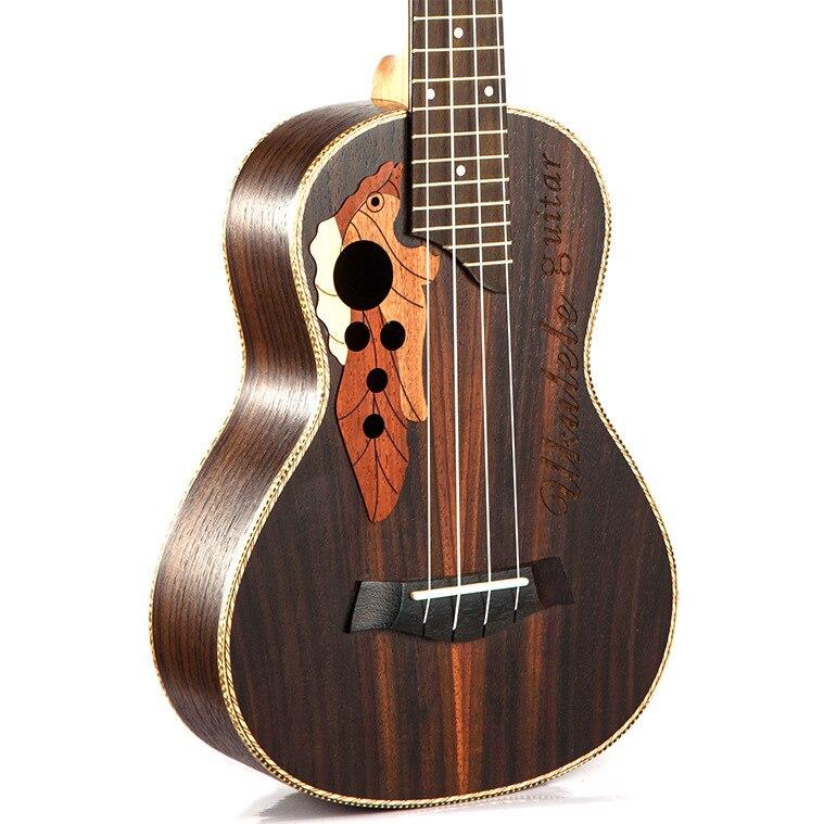 Ukulélé de Concert Soprano 23 pouces en bois de rose uku Ukelele avec 4 cordes mini Hawaii guitare Instruments de musique - 3