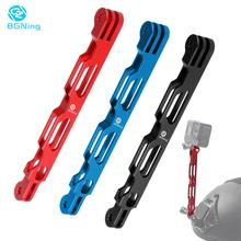 BGNing Aluminium Alloy Selfie Extension Arm Lengthened Rod Helmet Mount for Gopro MAX 8 7 6 5 for insta360 One R X Action Camera