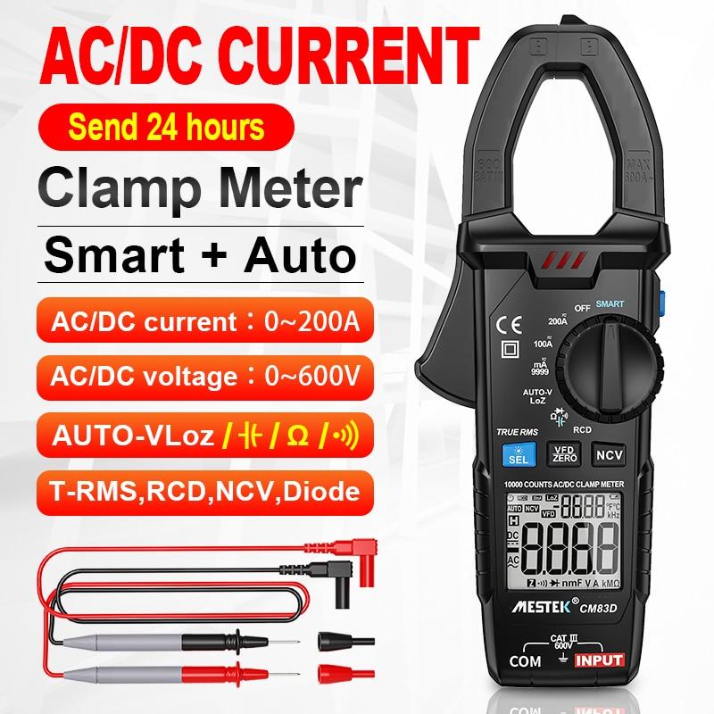 Digital Clamp Meter AC Voltage 0-600V True RMS High Precision Capacitance NCV CM83C Clamp Multimeter With Temperature Probe