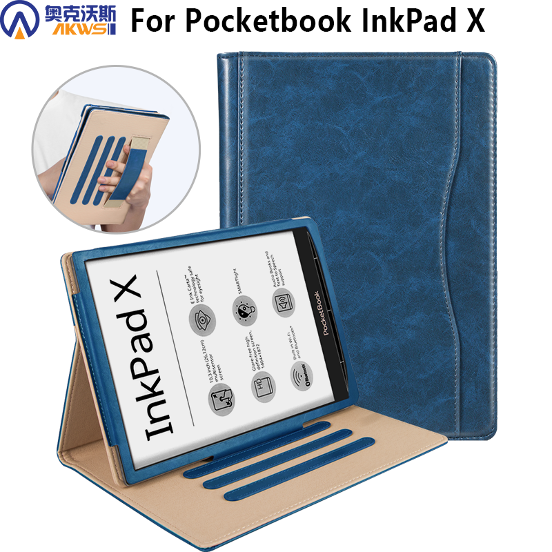 Cover Case For Pocketbook InkPad X 2020 Stand Leather Case For New Pocketbook InkPad X 10.3 Inch With Hand Holder