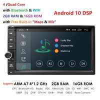 2 Din 7'' Quad core Universal Android 10 2GB RAM Auto Radio Stereo GPS Navigation WiFi 1024*600 touchscreen 2din Auto multimedia