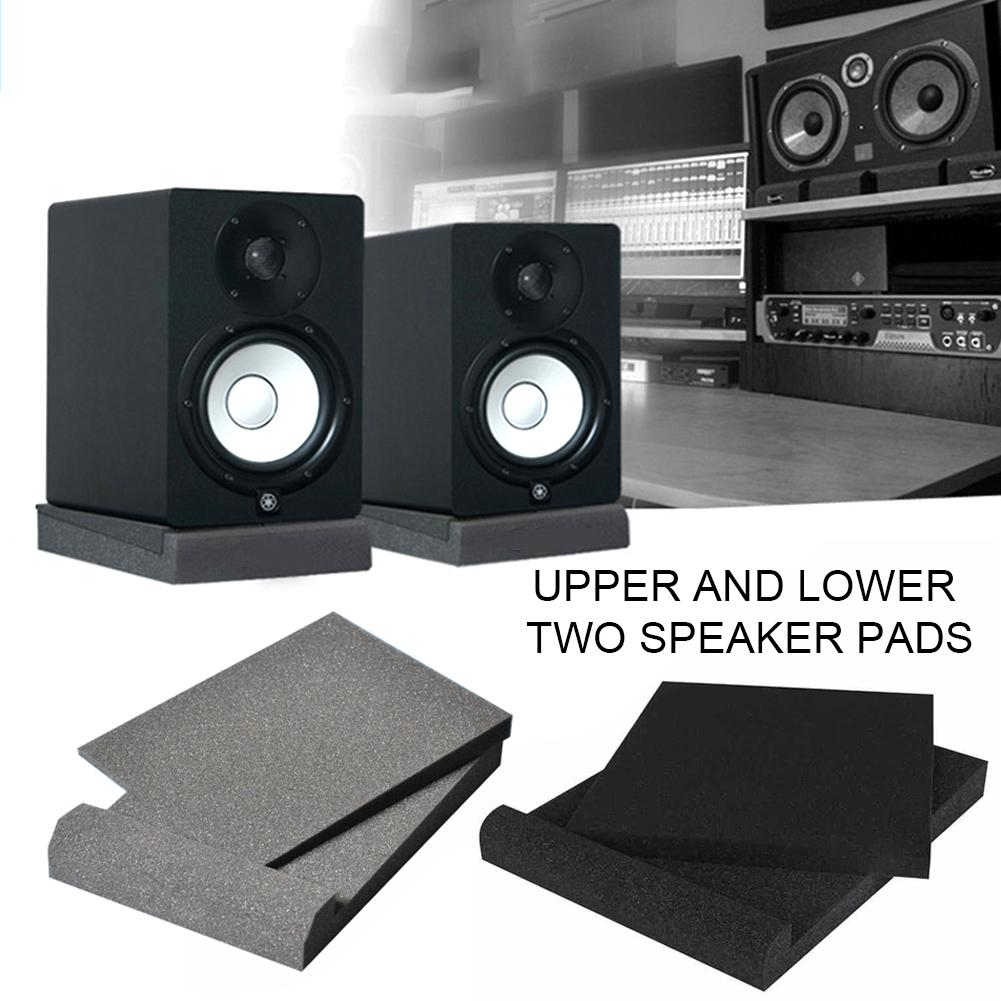 Stüdyo Monitör İzolasyon Pedleri Yüksek Yoğunluklu Akustik Köpük En Hoparlör Standları Piyano Odası Ses Takviye Yastık