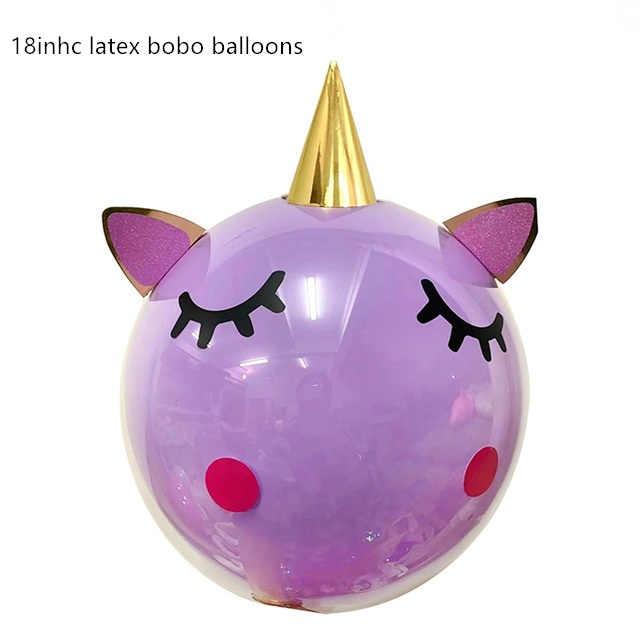 Белый Единорог наклейка для воздушного шара прозрачные воздушные шары Единорог день рождения для украшения детского душа поставки балоны