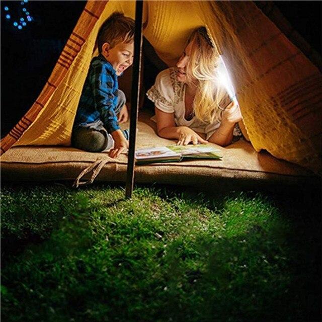 Portable LED Solar Light Outdoor/Indoor Soptlight Sensor Motion Light Waterproof 4 Modes House Camping Tent USB Emergency Light 5